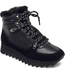 gaye-fur-shark/00 shoes boots ankle boots ankle boot - flat svart bally