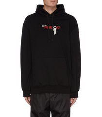 'key person' embroidered hoodie