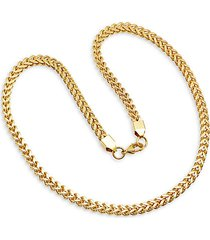 18k gold plated stainless steel wheat chain