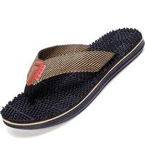 zapatillas de hombre sandalias de masaje - negro