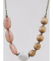 colar feminino com pingentes de acrílico dourado