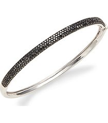 14k white gold & black diamond bangle bracelet