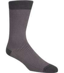 cole haan men's checked crew socks