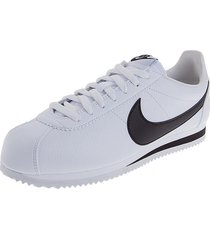 tenis lifestyle blanco-negro nike classic cortez leather