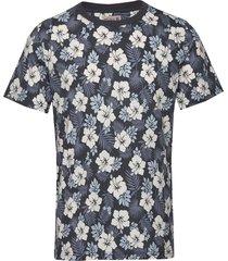 neal tee t-shirts short-sleeved blauw morris