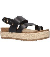 women's bella vita rosita slingback platform sandal, size 12 ww - black