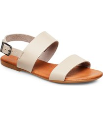 biabrooke basic leather sandal shoes summer shoes flat sandals vit bianco