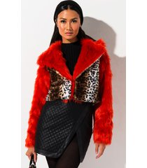 akira rehab clothing along for the ride fur jacket