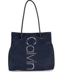 calvin klein women's classic logo tote - black
