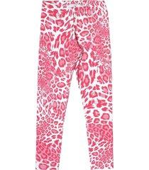legging livy verão cotton estampado onça rosa