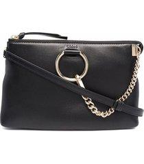 chloé faye ring-embellished crossbody bag