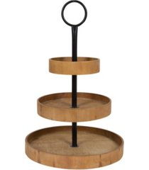 kate and laurel woodmont 3 tiered wood tray, 3 tier