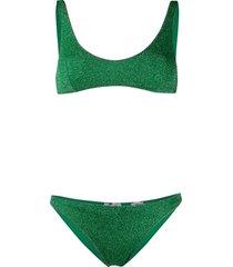 oséree textured fitted bikini - green