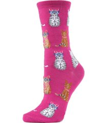 memoi studious cats women's novelty socks