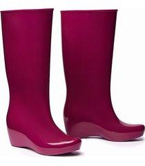 botas de lluvia impermeables stretch mujer magenta