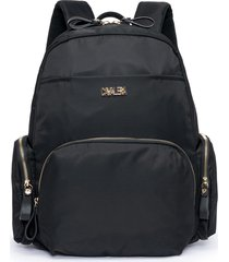 bolsa feminina escolar delicada cavalera costas bag`s mochila preta