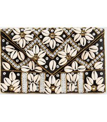 ciera shell envelope clutch - black
