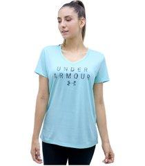 camiseta azul under armour tech ssv graphic