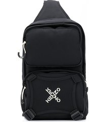 kenzo one shoulder backpack - black