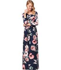 vestidos largos largos de flores para mujer vestido de playa