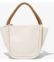 proenza schouler lux rope handle xs tote clay/white one size
