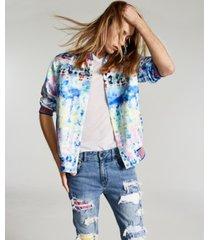 inc onyx men's regular-fit watercolor-print bomber jacket, created for macy's