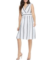 women's maggy london eyelet fit & flare dress