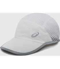 gorra blanco-gris asics
