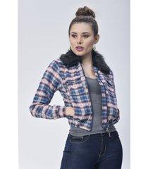 chaqueta bomber dama verde di bello jeans  classic jackets ref c015