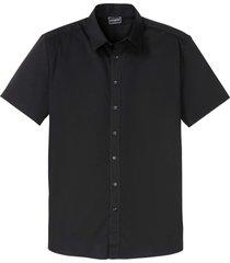 camicia a maniche corte elasticizzata slim fit (nero) - rainbow
