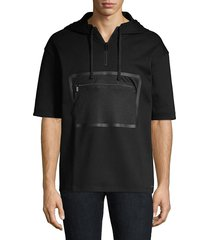 hugo men's dolet short-sleeve cotton sweatshirt - black - size s
