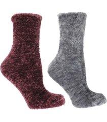 minxny women's lavender infused slipper socks, 2-pair pack