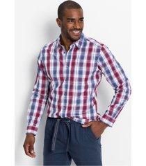 geruit overhemd met comfort belly fit
