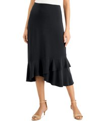 jm collection solid ruffled midi skirt, created for macy's