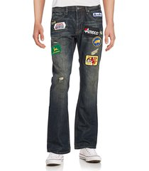 cult of individuality men's hagen patched jeans - blue - size 31