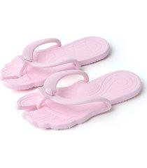 zapatillas planas de tanga casual rosa claro de moda