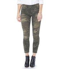 women's nydj ami high waist camo ankle skinny jeans, size 16 - green
