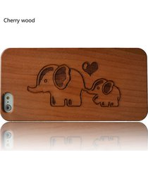 for iphone 6s plus 6 5s wood hard cherry wooden elephants  phone smartphone case