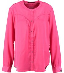 10 feet polyester shiny blouse hot pink