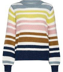 nubexley stripe pullover stickad tröja multi/mönstrad nümph