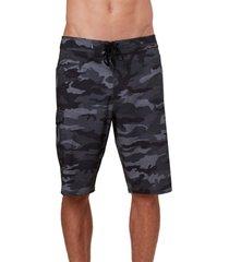 men's o'neill superfreak camo board shorts, size 33 - black