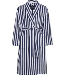 striped cotton-mix terry robe morgonrock badrock blå lexington home