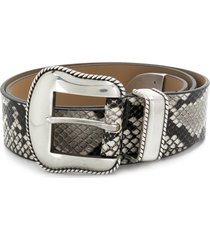 b-low the belt villain python belt - neutrals