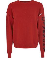 givenchy sleeve logo sweater