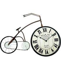 relógio kasa ideia bicicleta de mesa 38x58cm - tricae