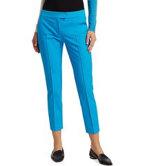 akris punto women's frankie cropped pants - luminous red - size 12