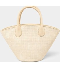 harmony perforated tote - ivory