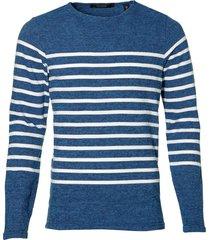 scotch & soda pullover - slim fit - blauw