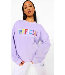 official oversized overdye sweater, lilac