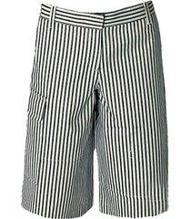 striped denim bermuda shorts